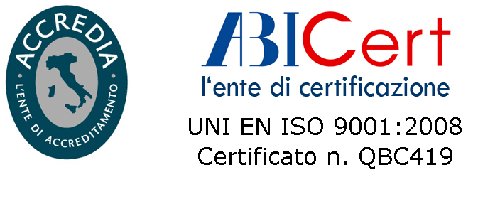 Logo UNI EN ISO 9001 colore RC SOLUTION